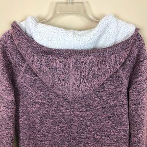 American Eagle Outfitters Tops - American Eagle Pink/Gray/Black Sweatshirt Hoodie